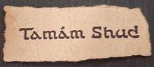 the tamam shud slip