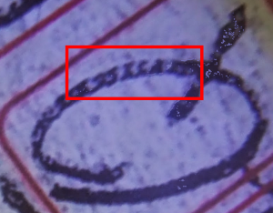 Previously hidden code on the letter Q